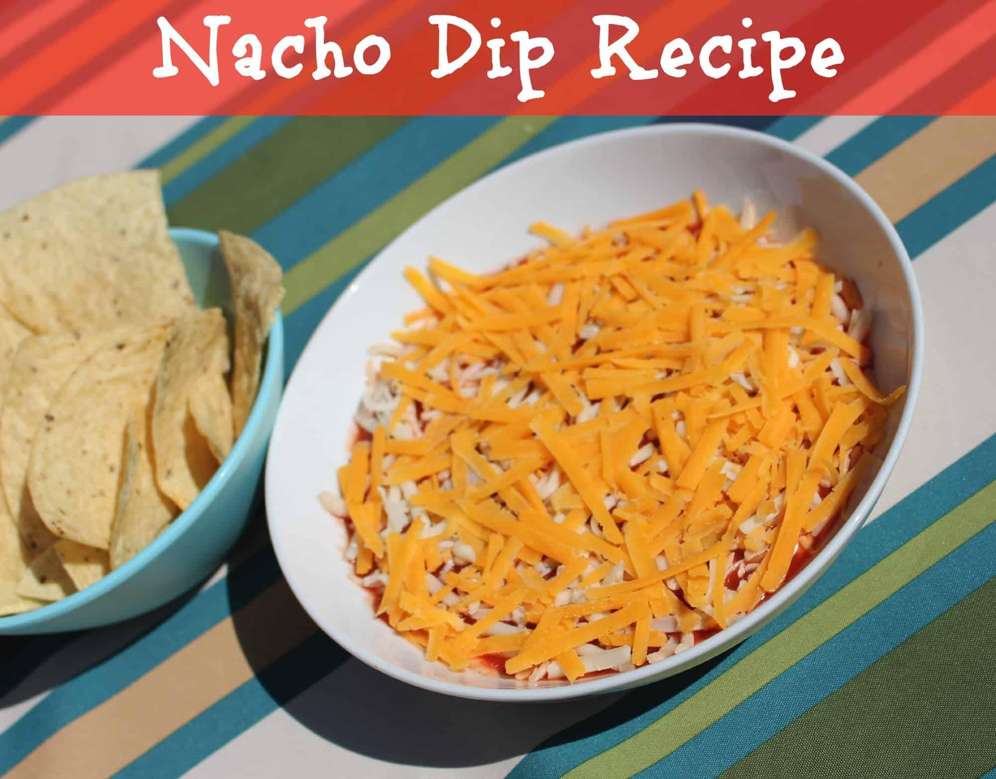 5 ingredient easy nacho dip