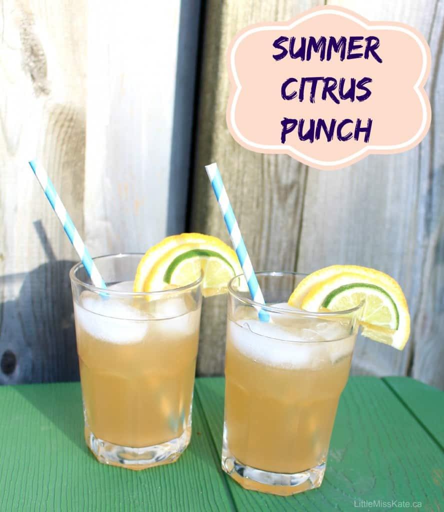 Easy summer citrus punch recipe