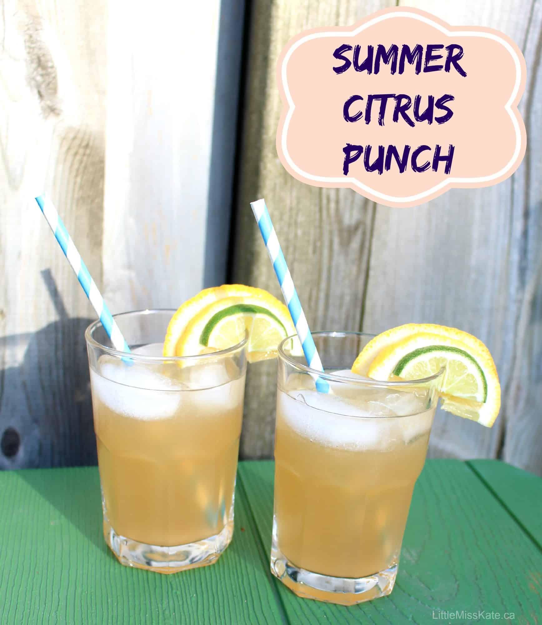 Homemade Summer Citrus Punch Recipe #SpringforCitrus