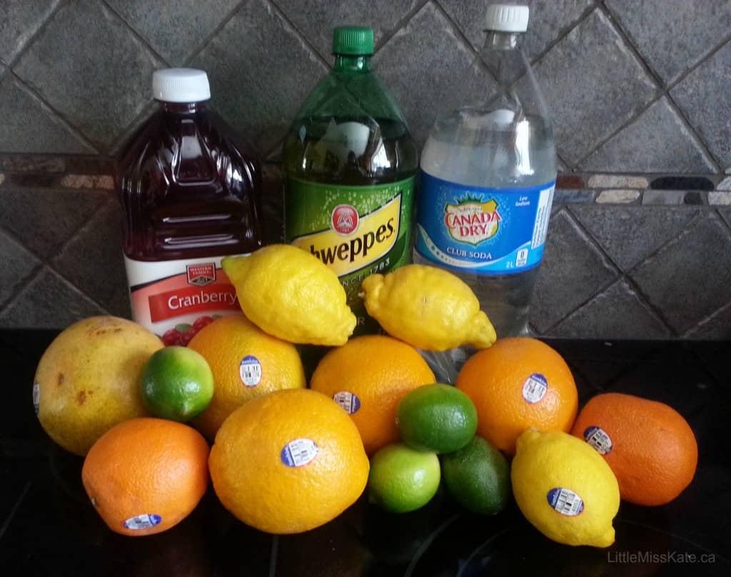 Homemade summer citrus punch recipe