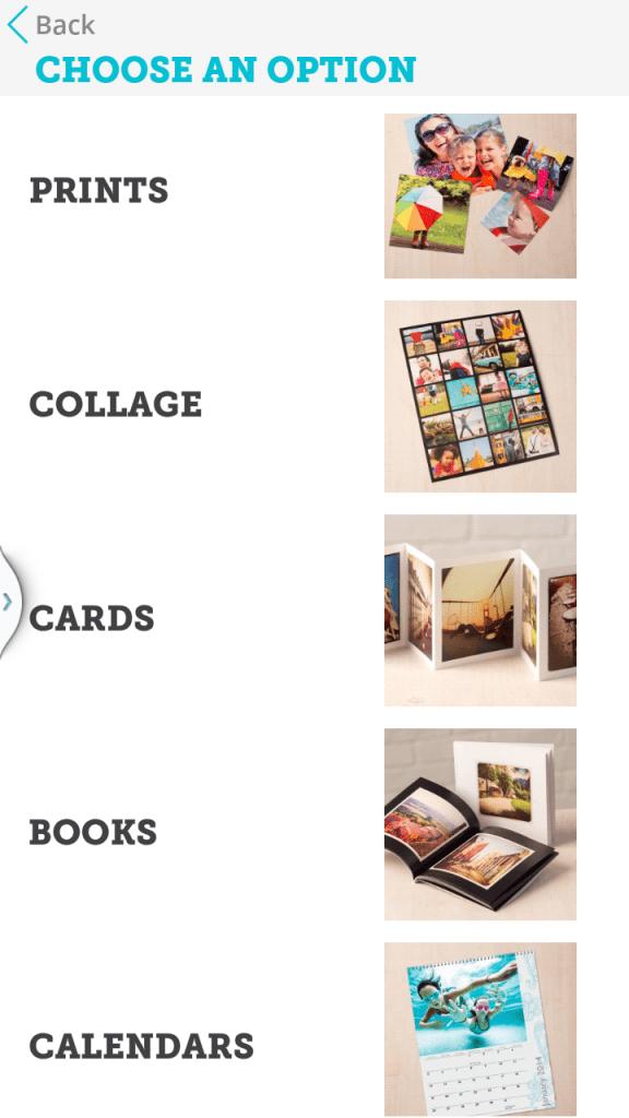 Print photos from cell phone Blacks app