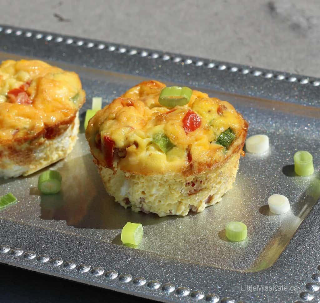 Ham and Tomato Egg Breakfas Omelet Muffin Recipe