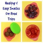 Easy Snacks for Road Trips for Kids and the containers to help keep your car from becoming a mess! #momtrust