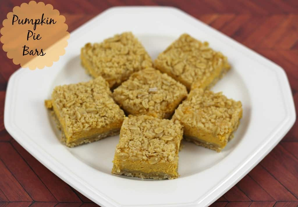 Pumpkin Pie Bars thanksgiving dessert