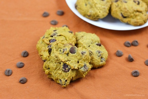 Pumpkin Chocolate Chip Cookie Recipe with whole wheat flour