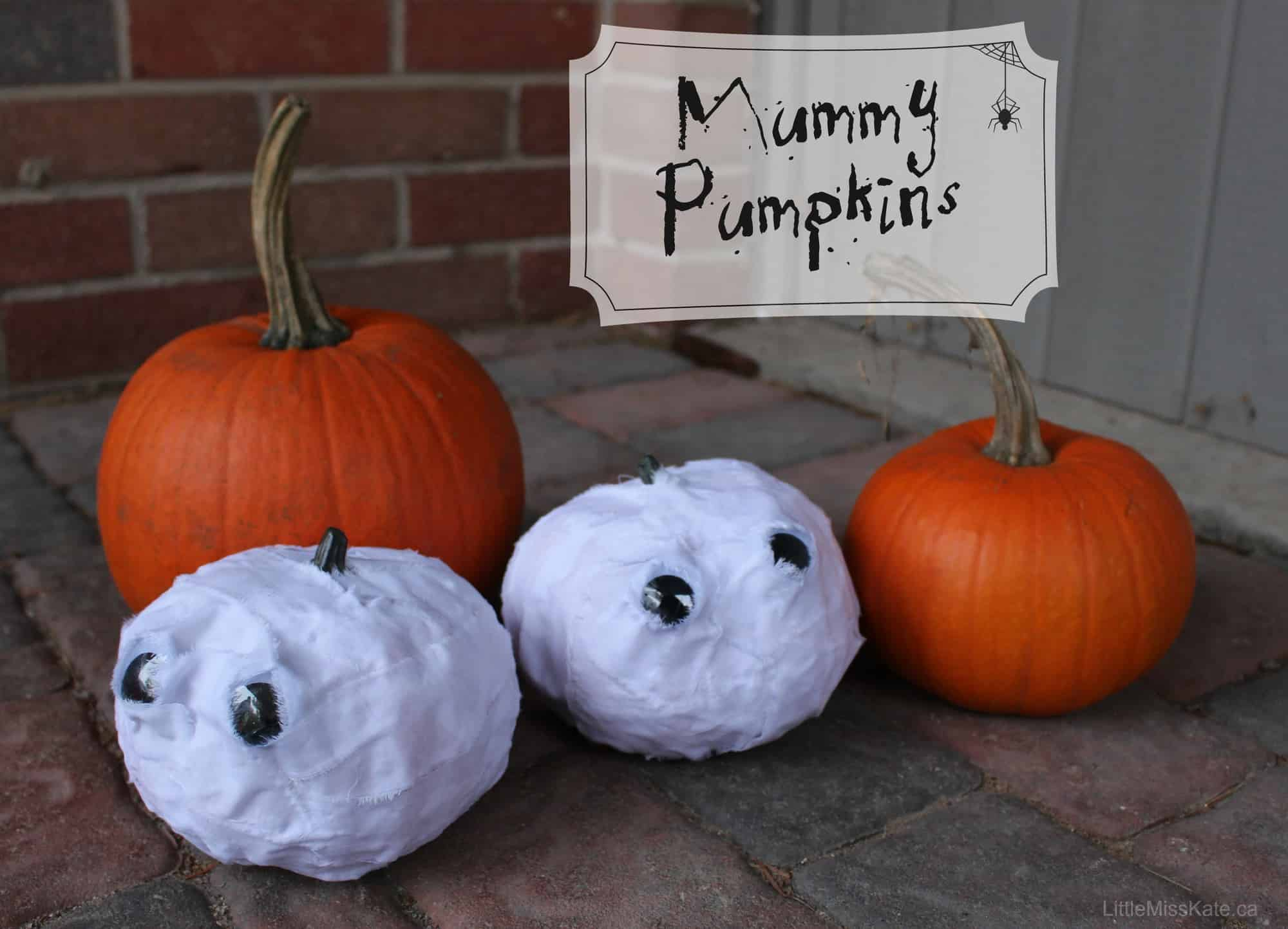 Pumpkin decorating ideas mummy pumpkins little miss kate