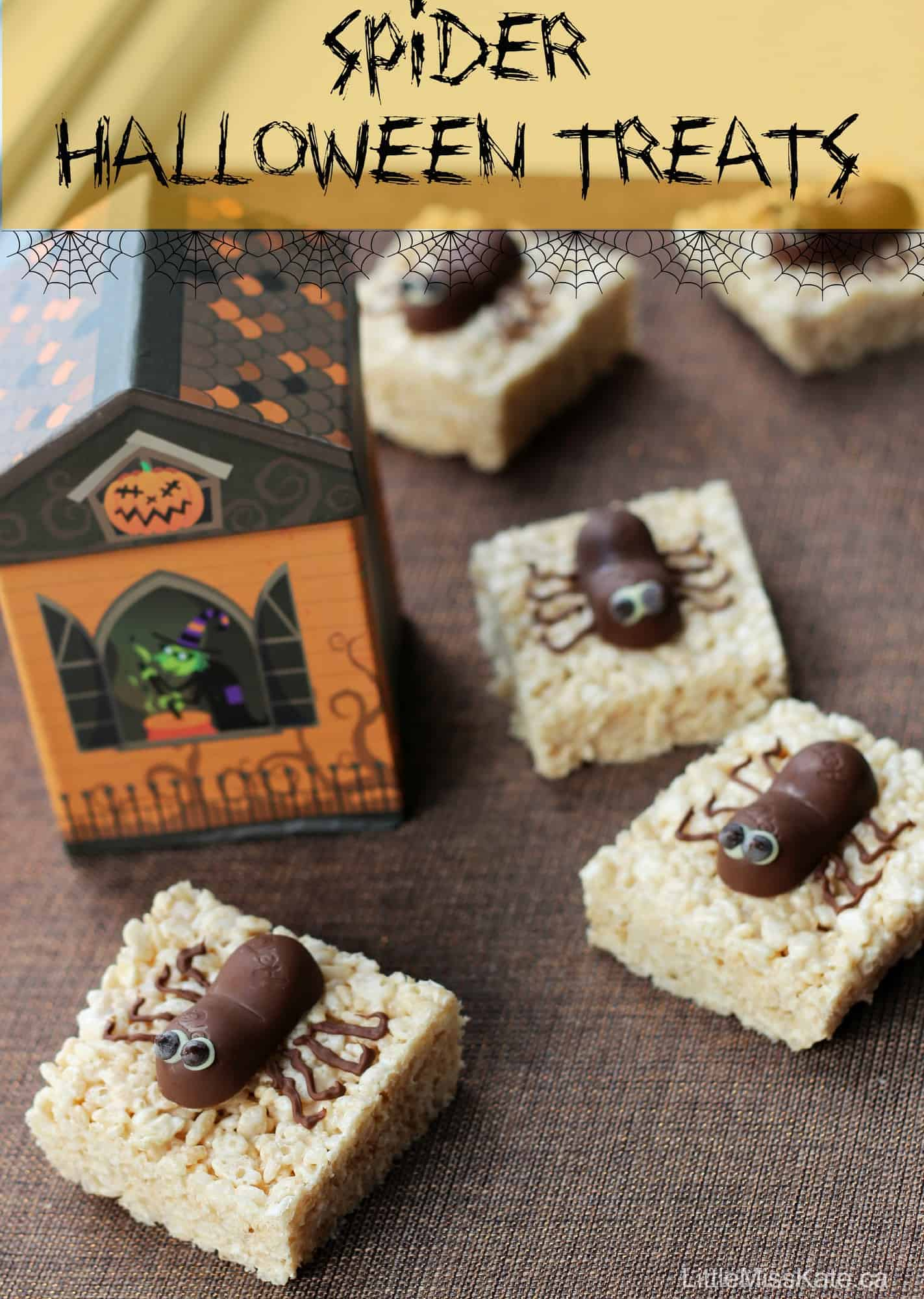 Easy Halloween Treat Idea - Spider Halloween Treats via LittleMissKate.ca