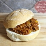 Easy Slow Cooker Shredded Beef Sandwiches #WalmartFRESH