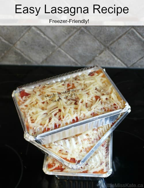An easy lasagna recipe that freezers so well! A family favorite!