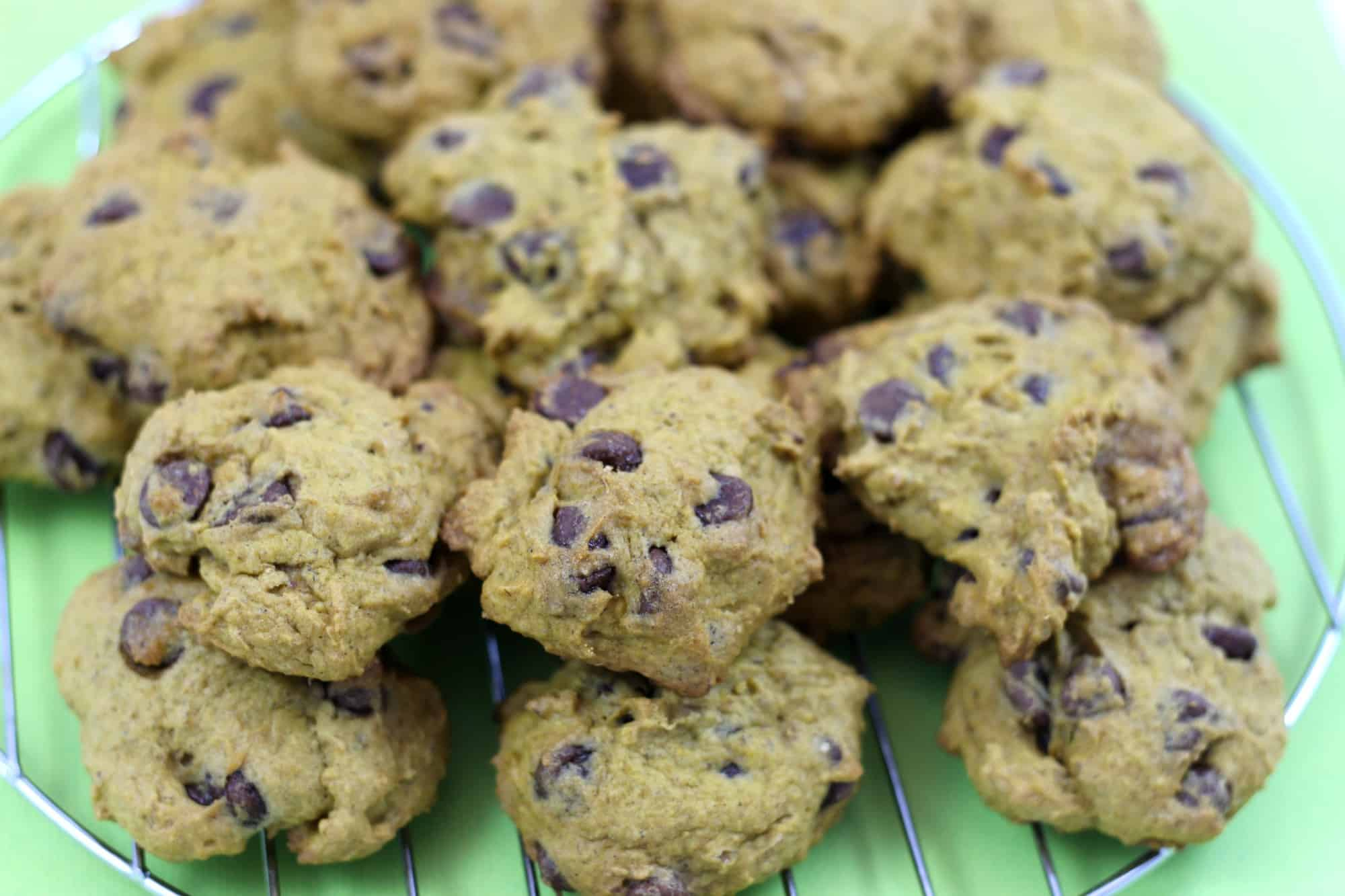 easy pumpkin chocolate chip cookie recipe with whole wheat flour
