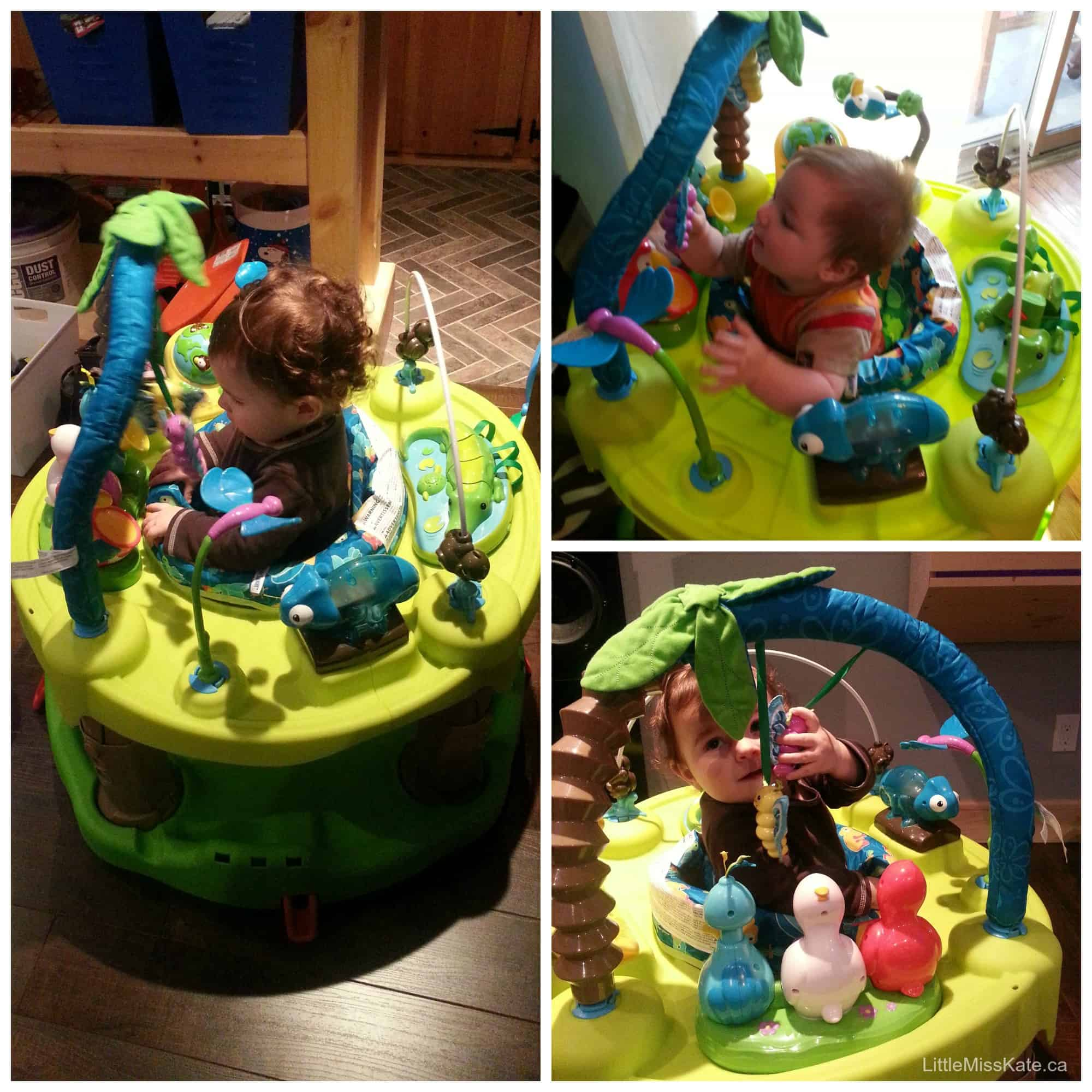 Saving Space With The Evenflo Exersaucer Triple Fun