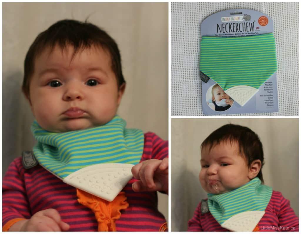 baby shower gift idea cheeky chomper neckerchew review