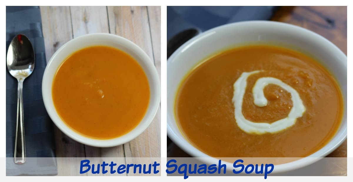 Butternut Squash Soup Recipe with Apples