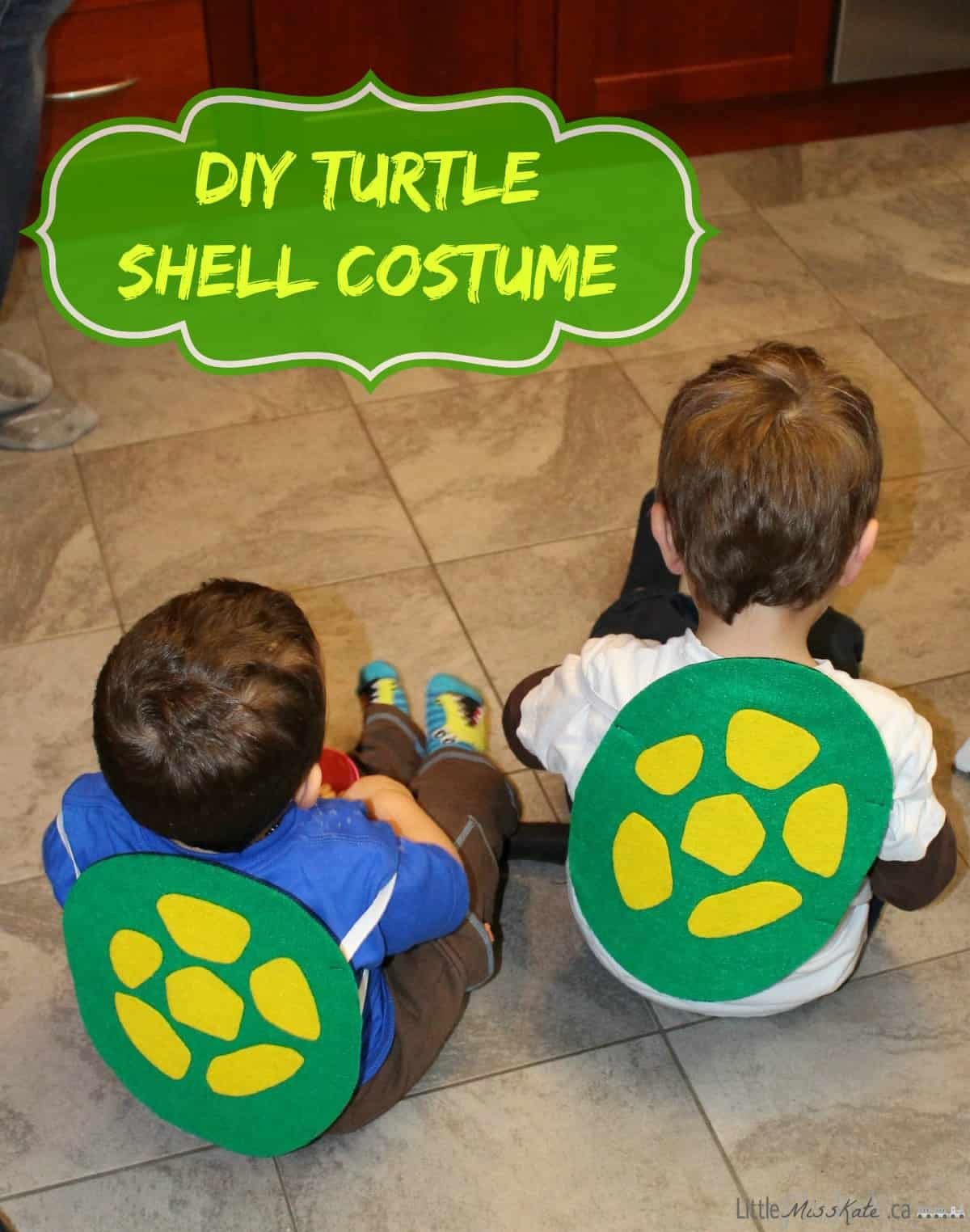 Diy teenage mutant ninja turtle shell costume with pattern little diy teenage mutant ninja turtle shell costume craft via littlemisskate solutioingenieria Gallery