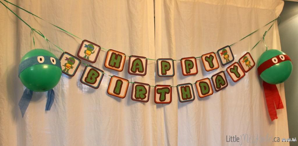 teenage mutant ninja turtle party decoration ideas