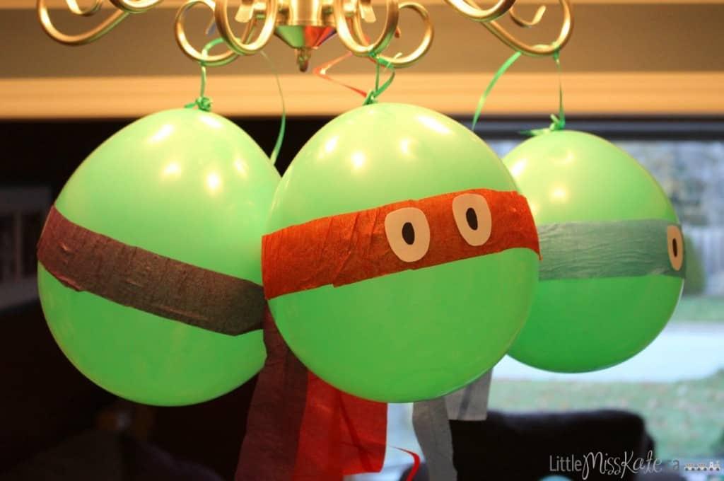teenage mutant ninja turtle party decoration ideas DIY Balloons