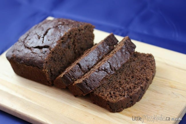 Double Chocolate Zucchini Bread Recipe - great as a snack or paired with a coffee