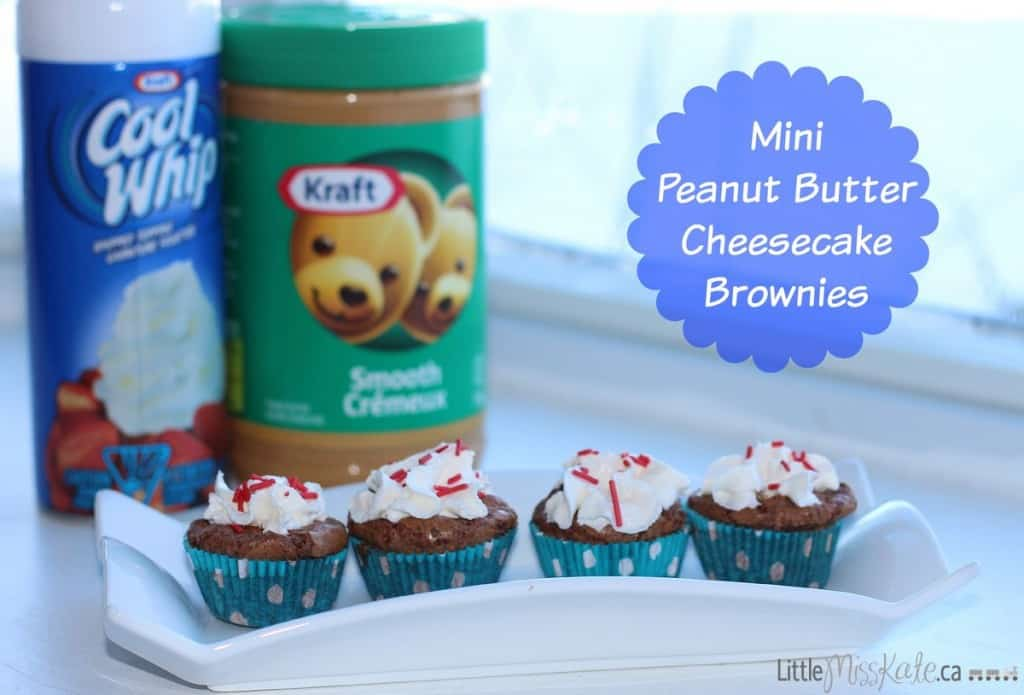 Mini Peanut Butter Cheesecake Brownies recipe
