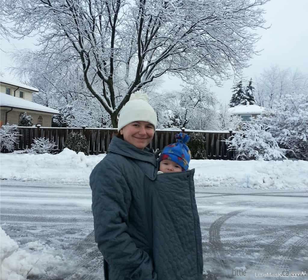 babywearing in the winter