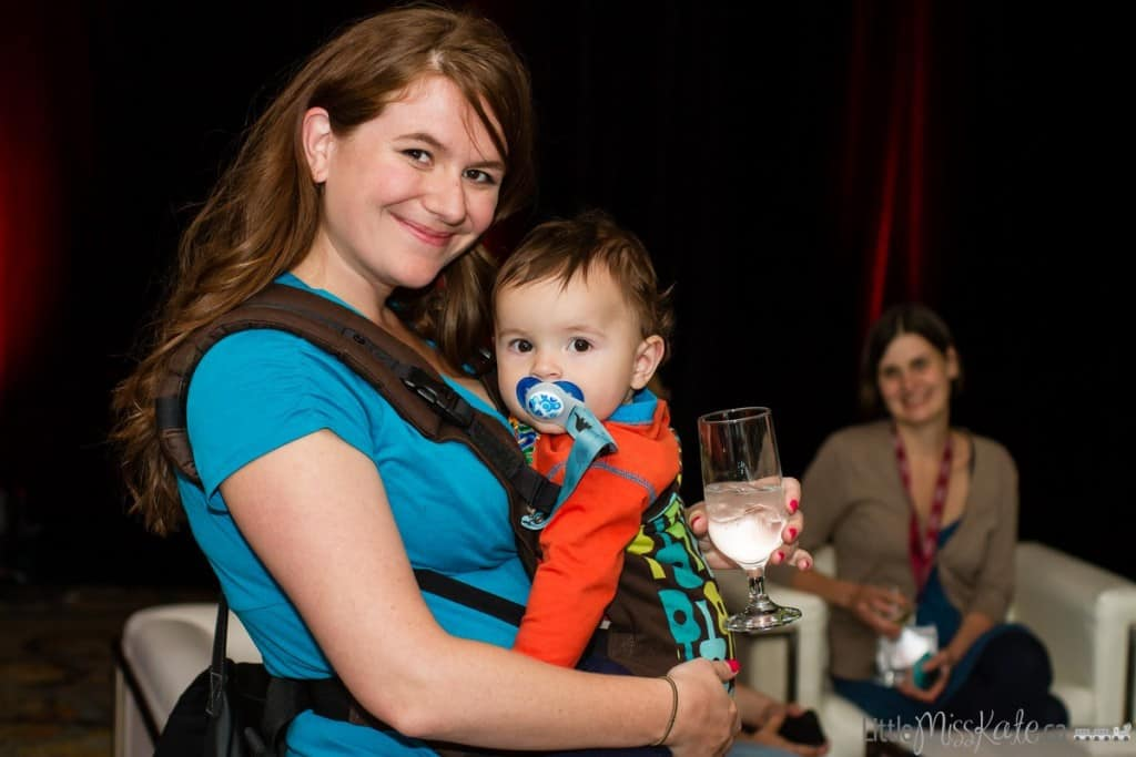 babywearing at a conference