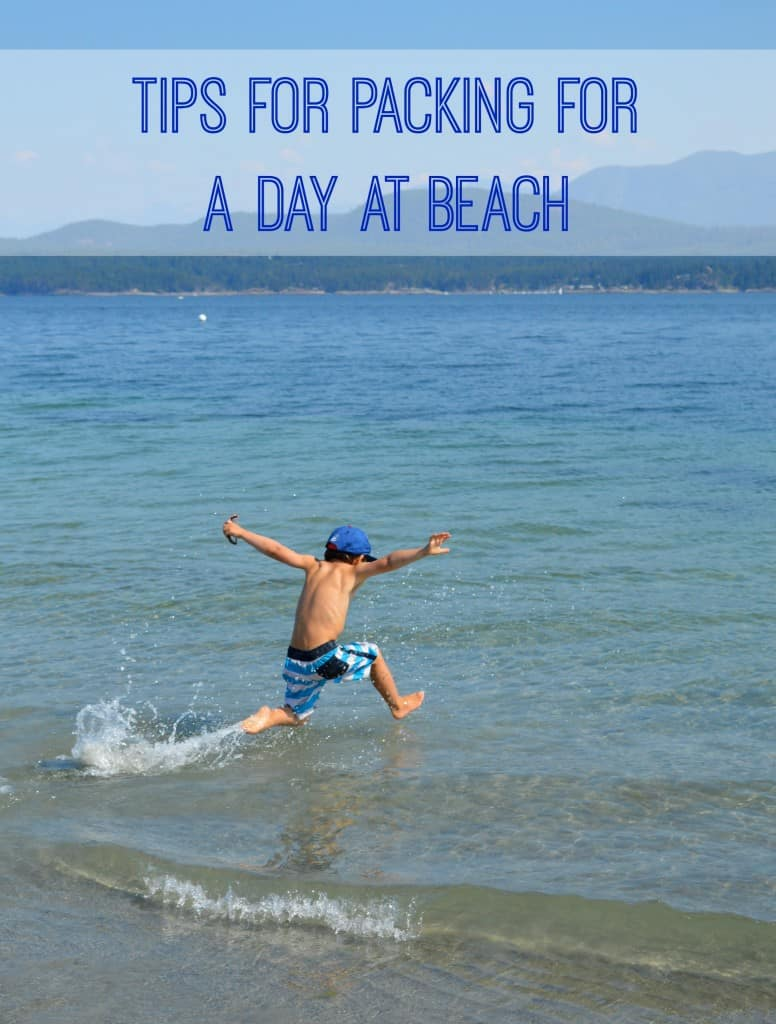 Tips for packing for a day at the beach