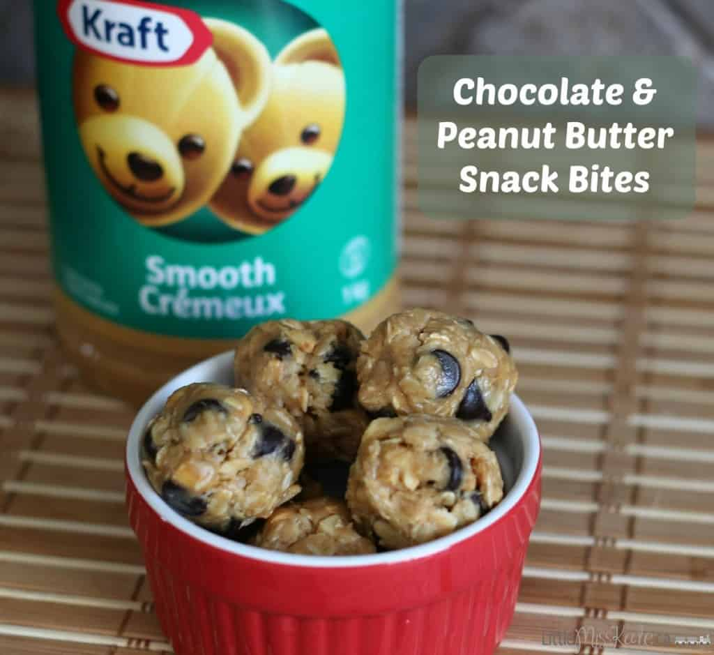 Chocolate and Peanut Butter Snack Bites Recipe - a perfect afterschool snack