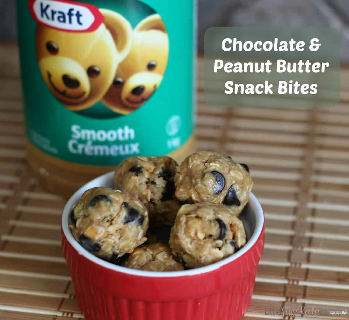 Chocolate and Peanut Butter Snack Bites Recipe after school snack