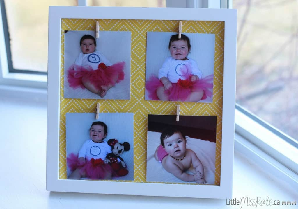 mothers day gift idea DIY photo display picture frame craft