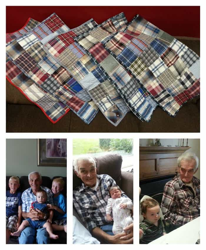 keepsake Memory Quilt ideas - a way to remember a grandparent who has passed away