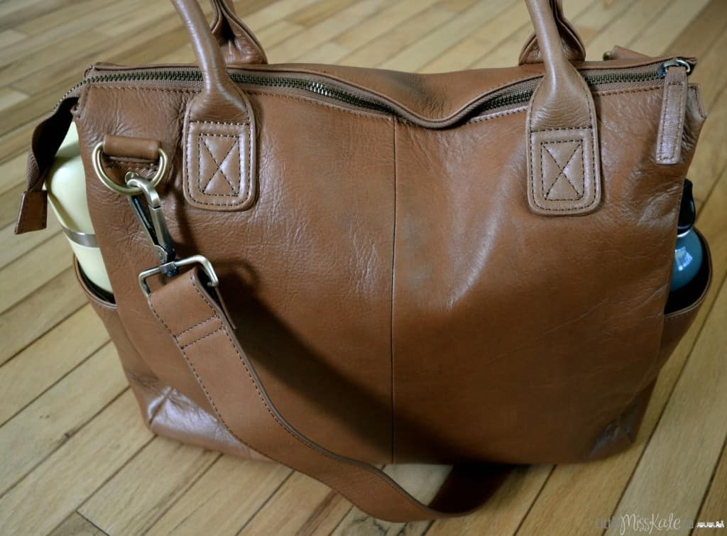 alternative to traditional diaper bag leather diaper bag