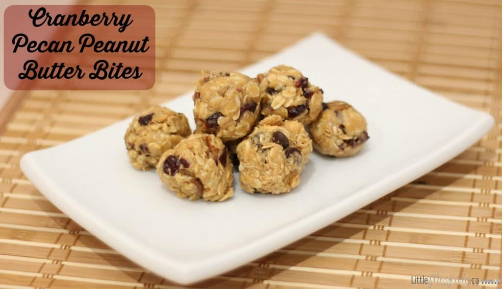 cranberry pecan peanut butter snack bites recipe