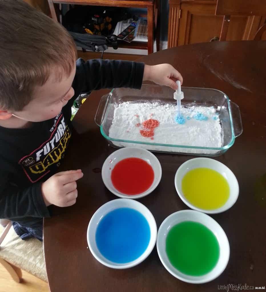 science experiements for kids kindergarten with baking soda