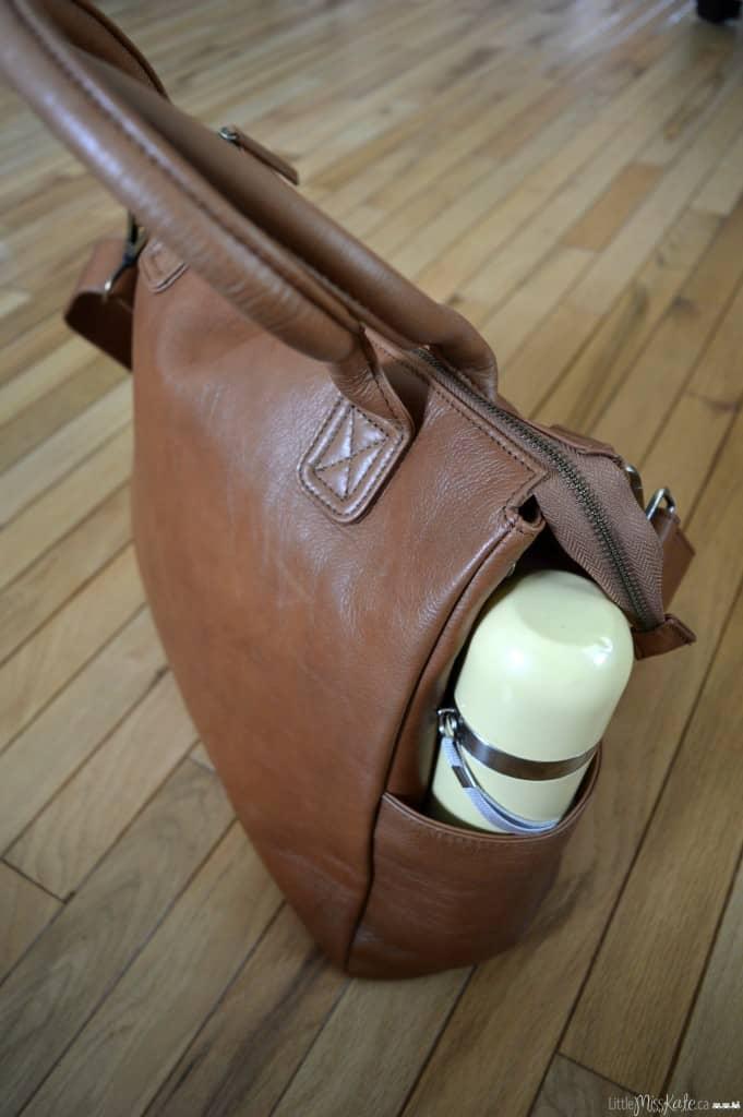 stylish leather diaper bag