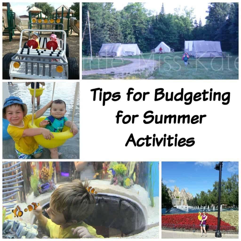 tips for bugdeting for summer activities