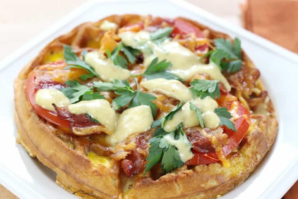 waffle bacon eggs recipe
