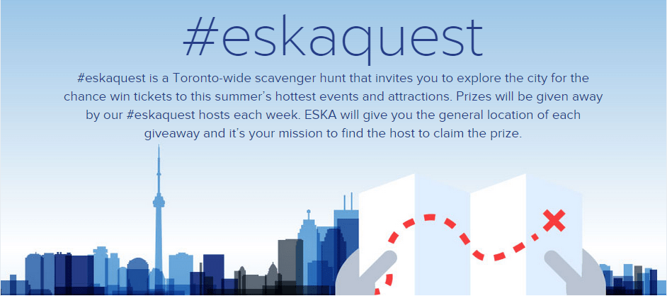 Eskaquest toronto 2015 outdoor savenger hunt