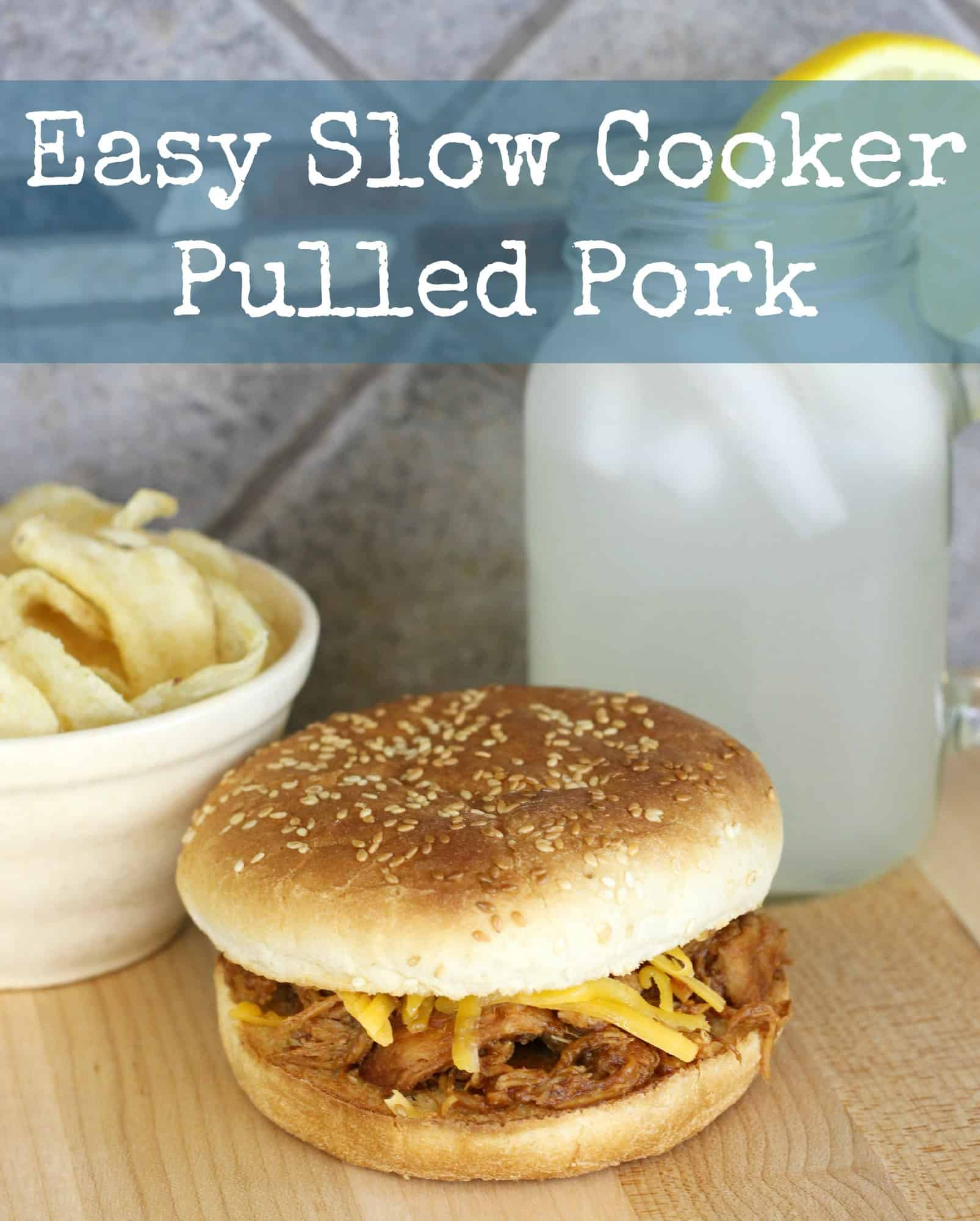 Easy Slow Cooker Pulled Pork Recipe - Little Miss Kate
