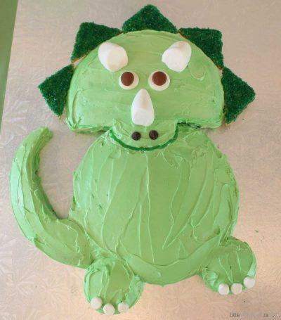 DIY Dinosaur Cake Ideas: Easy Triceratops Dinosaur Birthday Cake Recipe