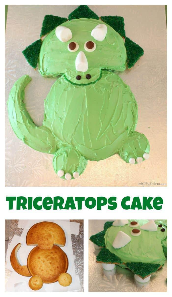 Fine Dinosaur Cake Ideas Easy Triceratops Dinosaur Birthday Cake Recipe Birthday Cards Printable Opercafe Filternl