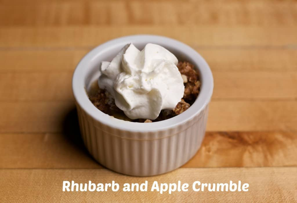 Rhubarb and Apple Crumble recipe
