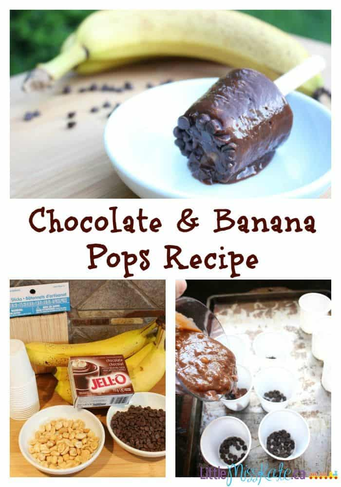 easy summer dessert ideas - frozen chocolate and banana pops recipe