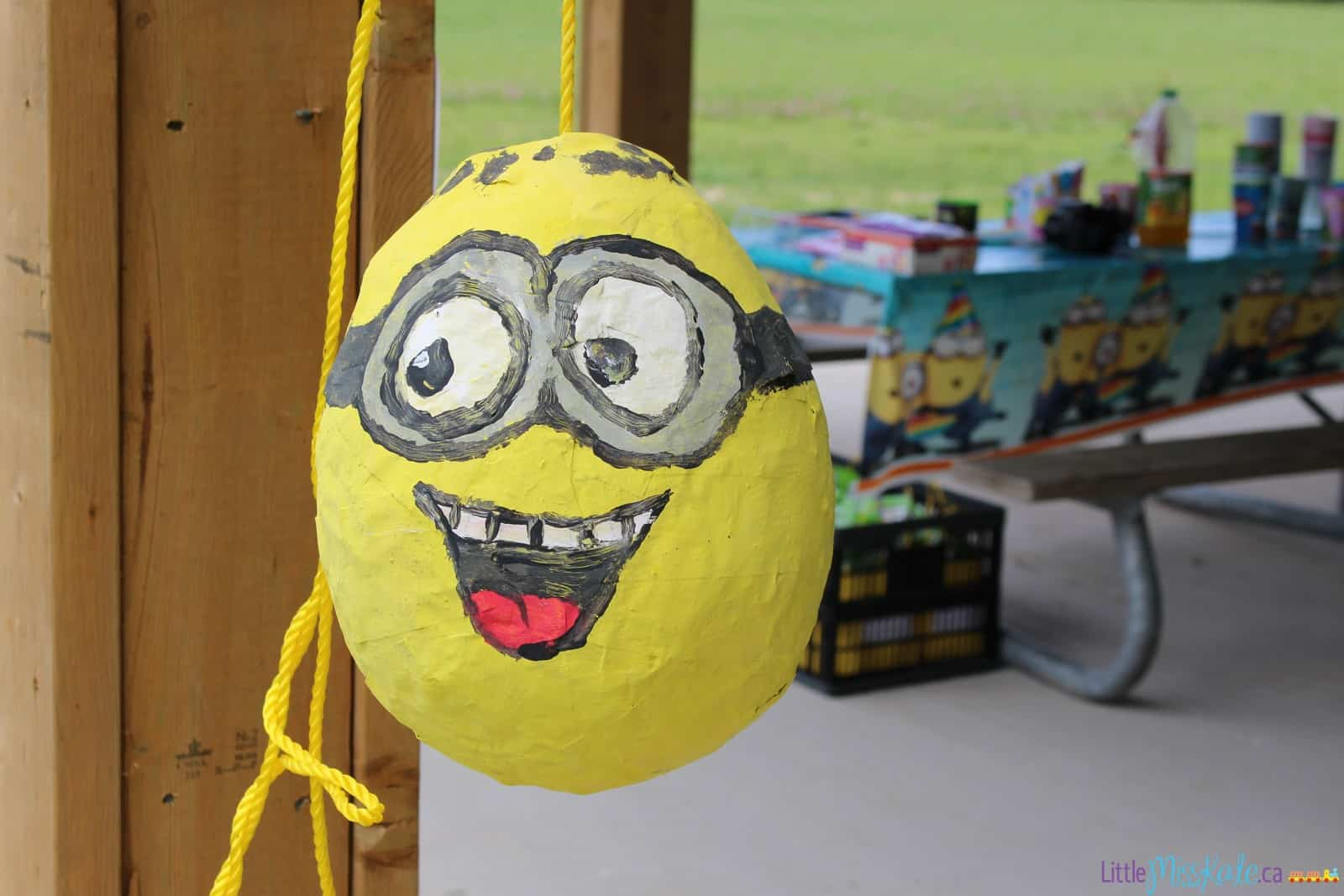 Homemade Minion Party Decorations