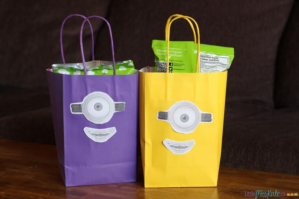 Minions birthday party ideas treat bags