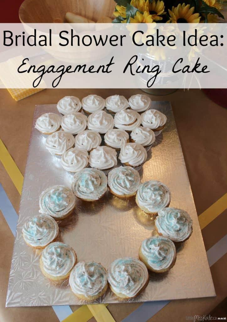 Bridal shower cake idea engagement ring cake idea