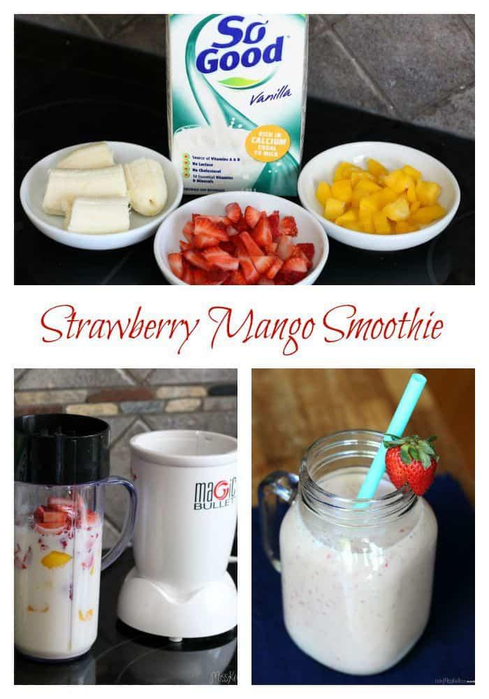 easy strawberry mango smoothie recipe dairy free