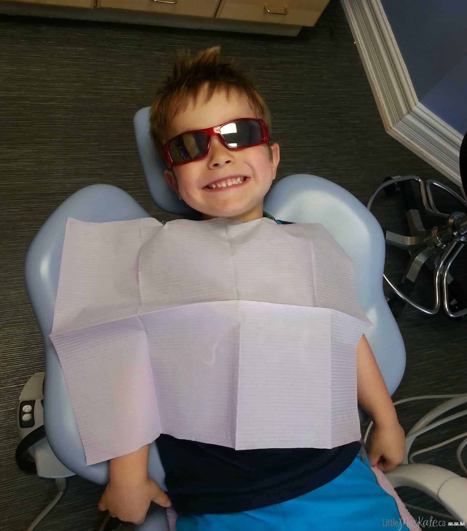 4 year old at the dentist