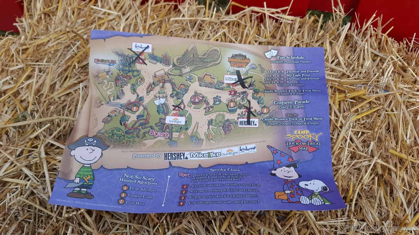 Camp spooky canadas wonderland halloween tick or treating map