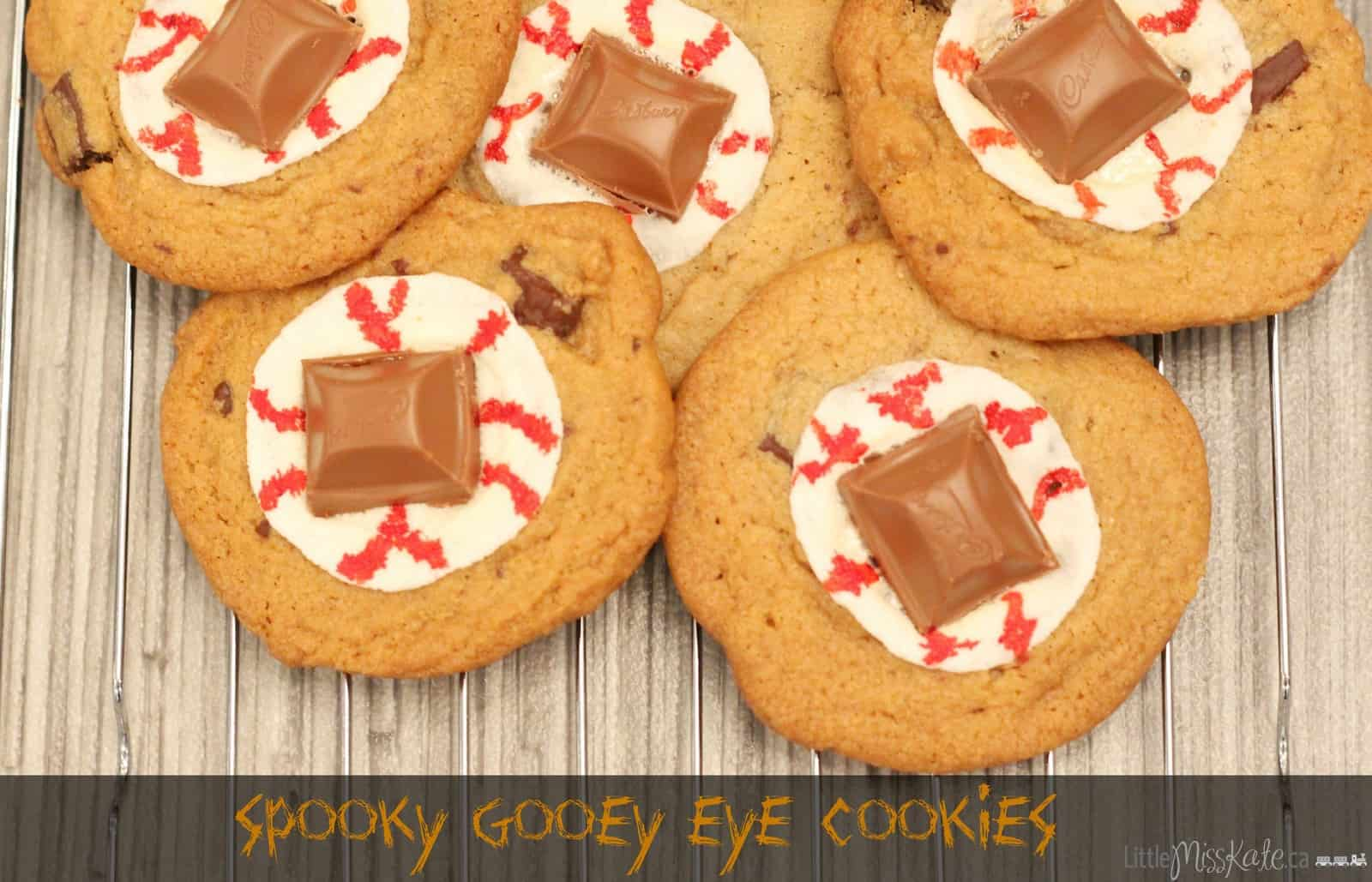 Halloween dessert idea spooky gooey eye cookies