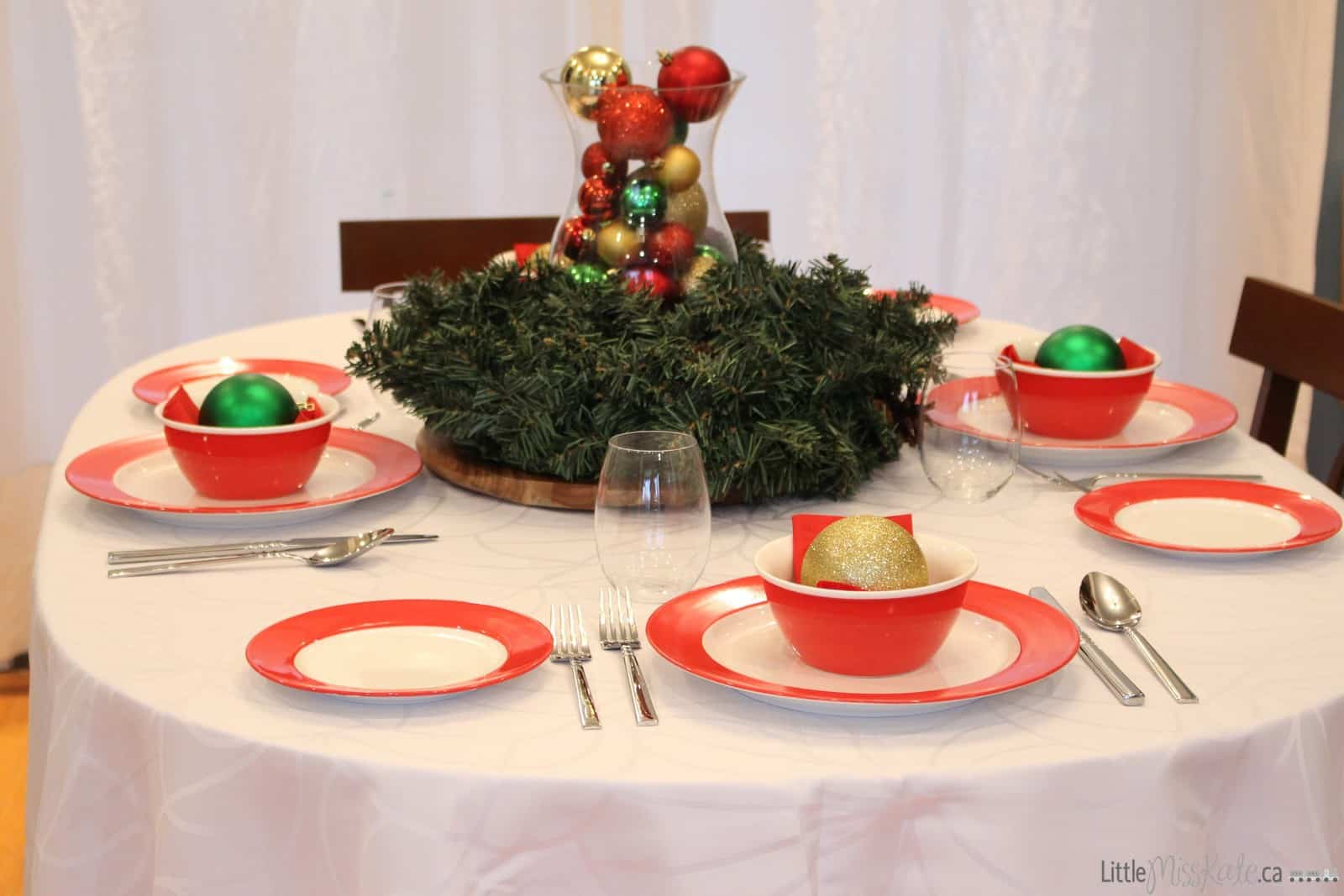 table fit for santa Christmas dinner table Canadian tire my canvas
