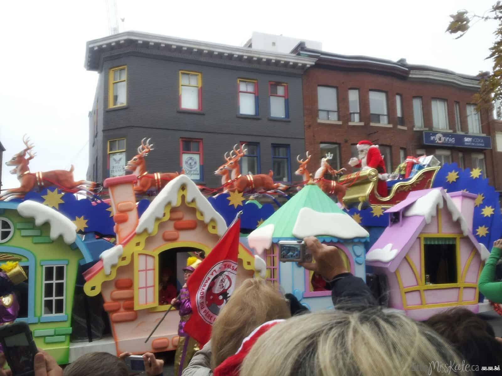 Toronto santa claus parade santa float